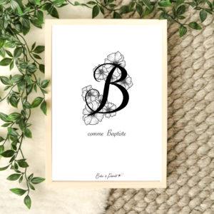 affiche lettre B
