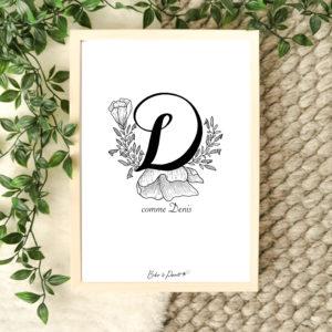 affiche lettre D