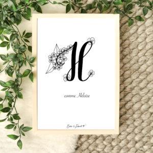 affiche lettre H