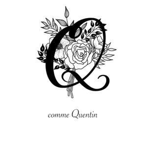 affiche lettre Q