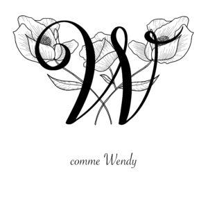 affiche lettre W