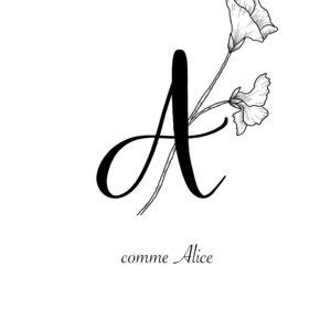affiche lettre A