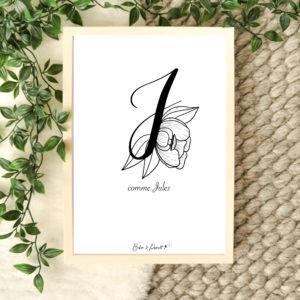 affiche lettre J