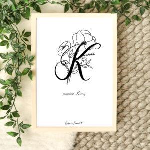 affiche lettre K