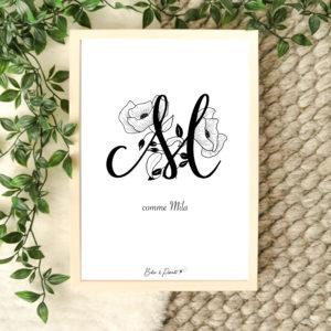affiche lettre M