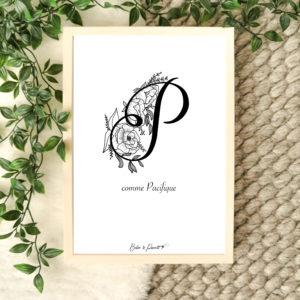 affiche lettre P