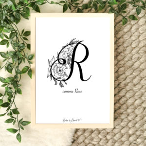 affiche lettre R