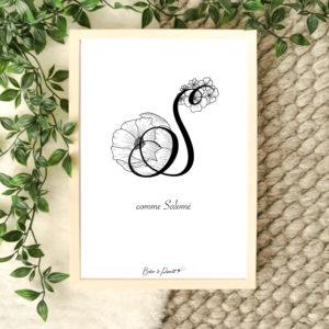 affiche lettre S