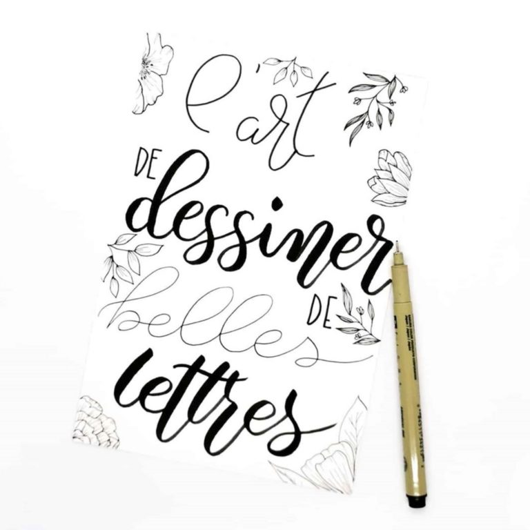 Calligraphie, brush lettering, lettrage, fausse calligraphie … quelle différence ?