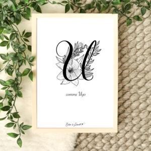 affiche lettre U