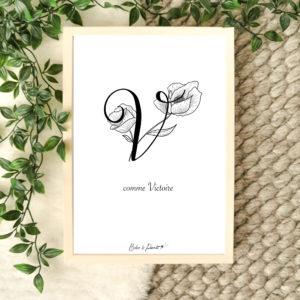 affiche lettre V