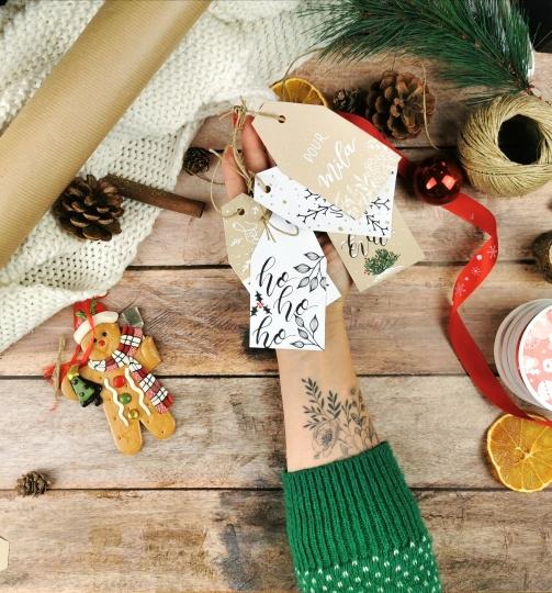 Avent en lettering #13: réaliser des étiquettes cadeaux