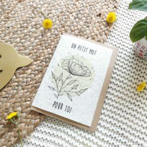 """Carte à planter """"un petit mot pour toi"""""""