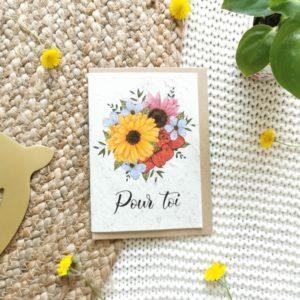 """Carte à planter """"pour toi"""""""