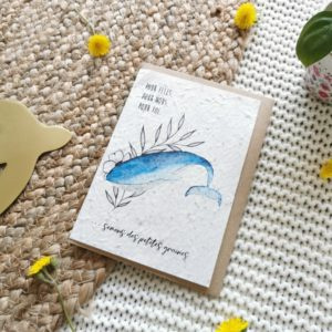 Carte à planter baleine