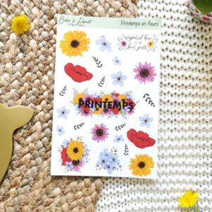 """Planche de stickers """"Printemps en fleurs"""""""