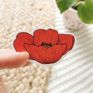 Sticker coquelicot