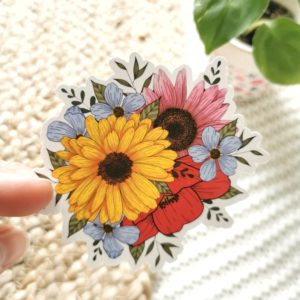 Sticker bouquet de fleurs Printemps