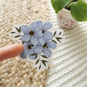 Sticker bouquet de myosotis