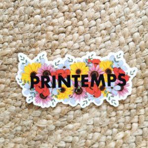 Sticker Printemps en fleurs