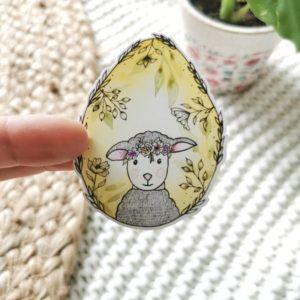Sticker oeuf-agneau Pâques