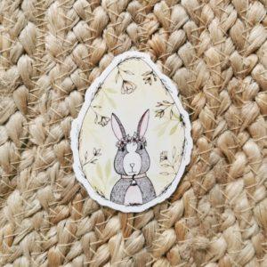 Sticker oeuf-lapin Pâques