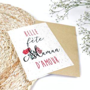 """Carte à planter """"Bonne fête maman d'amour"""""""