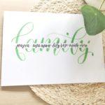 Inspire ton lettering # 2 / Mai – thème famille