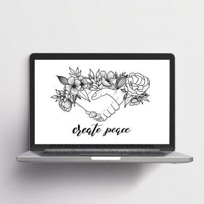 fond d'écran create peace